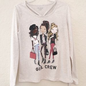 CHILDREN'S PLACE Girls Long Sleeve Top